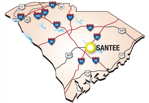 santee-map - Santee Cooper Golf
